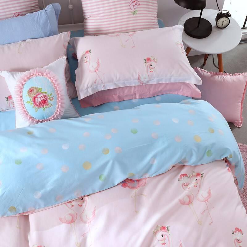 水星家纺出品 百丽丝全棉三/四件套 纯棉床单被套枕套